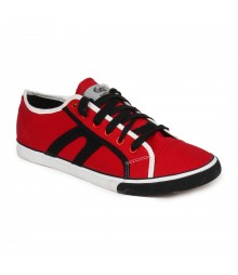 Vostro Red Black Casual Shoes for Men - VCS0152